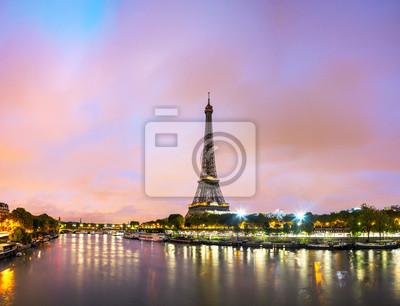Plakat Paryż pejzaż z wieży Eiffla