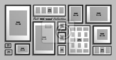 Plakat Pełna Kolekcja Ramek Do Zdjęć Ribba Ikea Prawdziwe Rozmiary