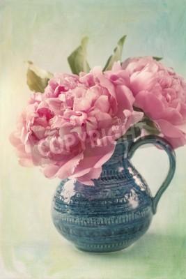 Plakat Peony flowers in a vase