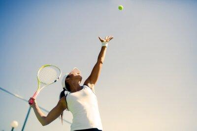 Plakat Piękna tenisistka porcja