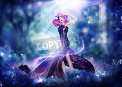 Plakat Piękne bajki fantazji kobieta, portret Fashion Art
