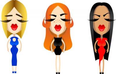 piękne dziewczyny ikony dla projektu usta kobiety