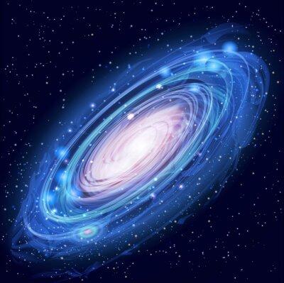 Plakat Piękne Glowing Vector Andromeda Galaxy