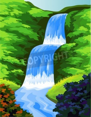 Plakat Piękny wodospad