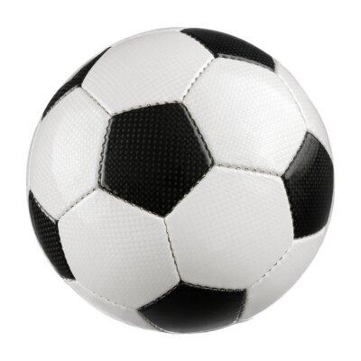 Plakat Piłka nożna na czystej bieli