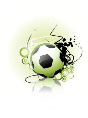 Plakat Piłka nożna wektor sztuki