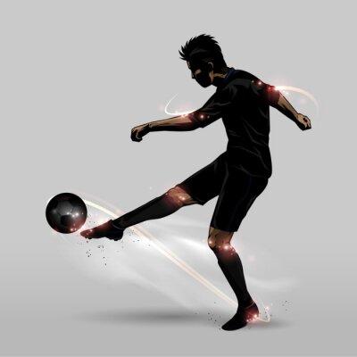 Plakat piłkarz pół woleja