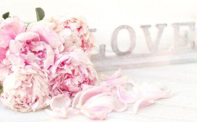 Plakat Piwonia i Miłość
