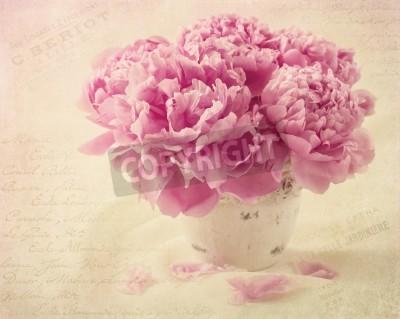 Plakat Piwonia kwiaty w wazonie
