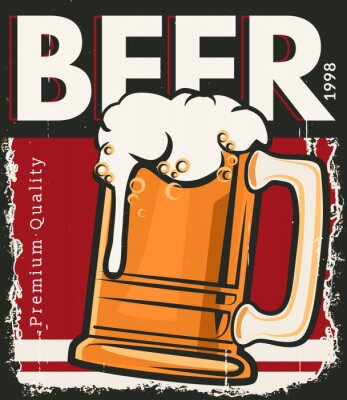 Plakat Plakat retro piwo