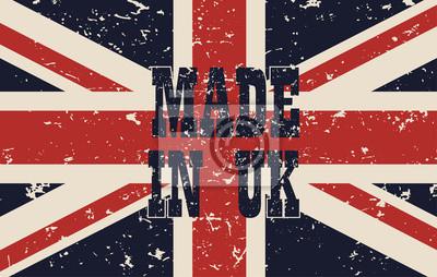 plakat wykonany w UK