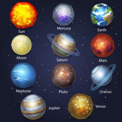 Plakat Planet zestaw 2