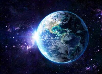 Plakat planeta w kosmosie - zdaniem USA - Usa