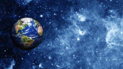 Plakat Planeta Ziemia w przestrzeni