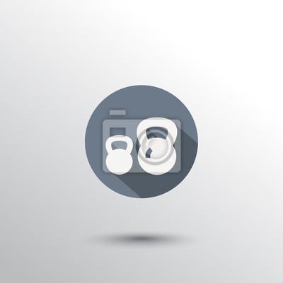 płaska hantle ikona ilustracji wektorowych, eps10, łatwe do edycji