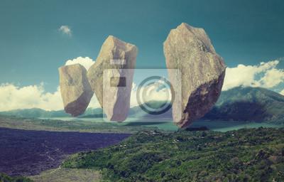 Plakat Pływające skały