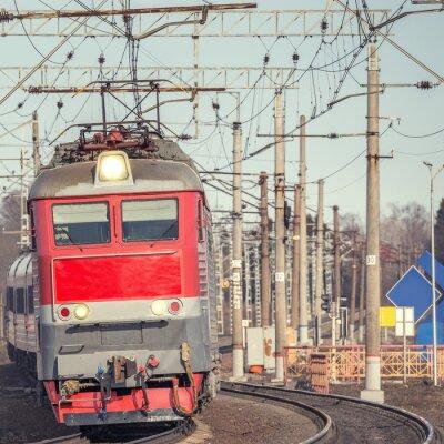 Plakat Pociąg pasażerski.