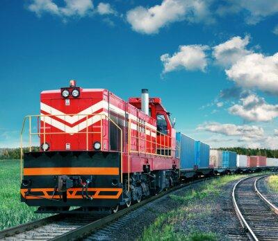 Plakat Pociąg towarowy