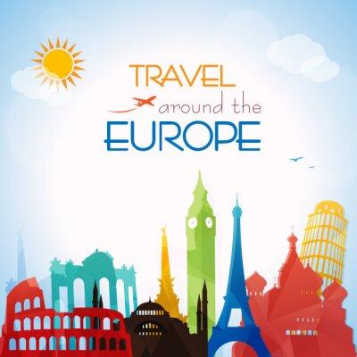 Plakat Podróżować po Europie
