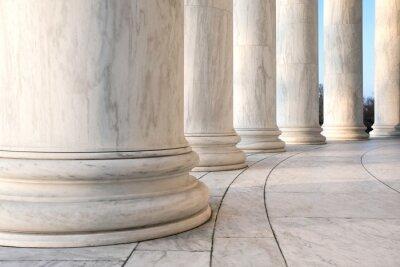 Plakat Podstawa jońskimi kolumnami w Jefferson Memorial w Waszyngtonie
