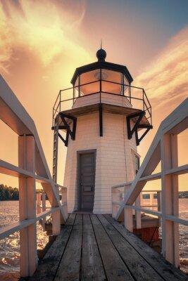 Plakat Podwojenie Point Lighthouse w Maine, USA