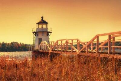 Plakat Podwojenie Point Lighthouse w Nowej Anglii