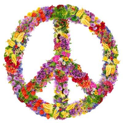 Plakat Pokoju symbol kwiat