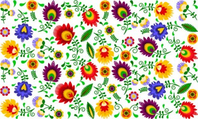 Plakat Polski folklor - kolorowy wzór