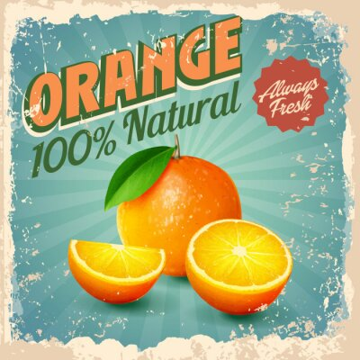 Plakat pomarańczowa rocznika