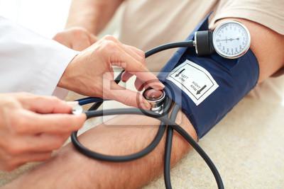Plakat Pomiaru ciśnienia krwi.