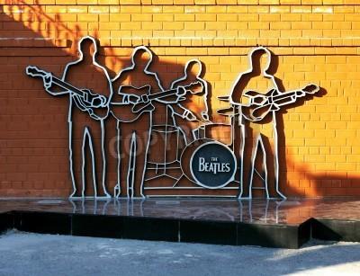 Plakat Pomnik The Beatles w Jekaterynburg, Rosja