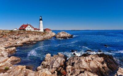 Plakat Portland Head Lighthouse w Cape Elizabeth, Maine