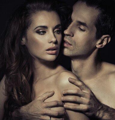 Plakat Portret sensual młoda para