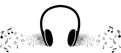 Plakat Posłuchać muzyki