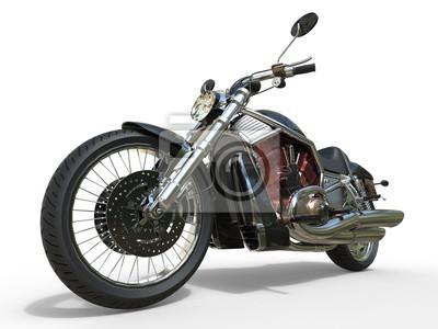 Plakat Potężny Vintage motocykl - Red Silnik