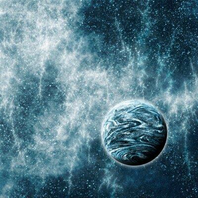 Plakat Pozasłoneczne planety w Warped przestrzeni czasowej Region