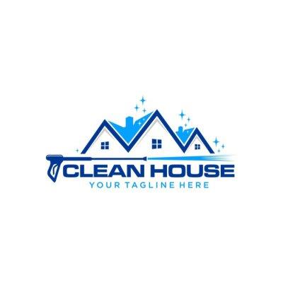 Plakat pressure wash home logo template