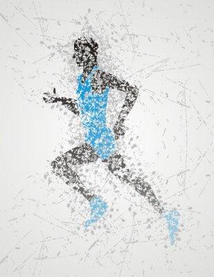 Plakat projekt sportowiec