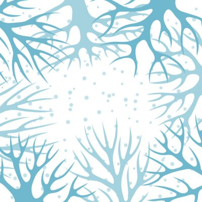 Plakat Projekt Zima w tle z abstrakcyjne stylizowanych drzew