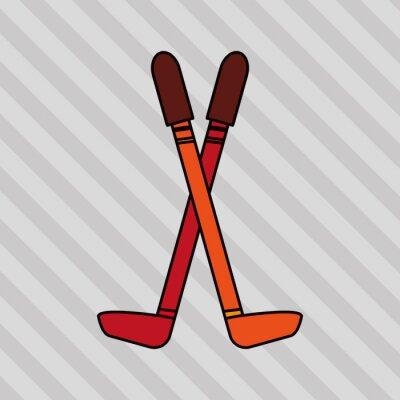 Plakat projektowanie sport zimowy