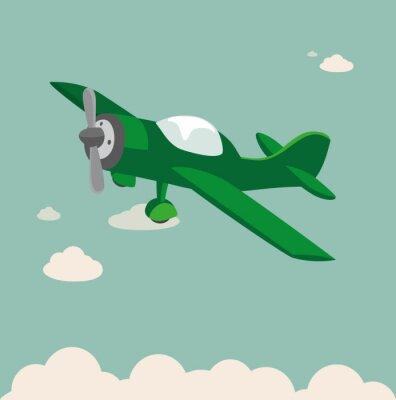 Plakat Propellerflugzeug samolot Vektor