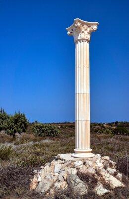 Plakat Przebudowa kolumn korynckich na wyspie Kos, Grecja.