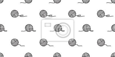 przędzy kulki bez szwu wektor kulki przędzy igieł dziewiarskich tapeta na białym tle