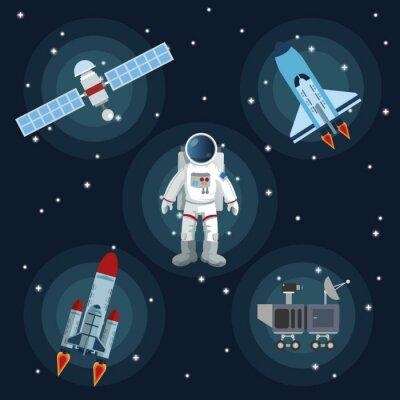 Plakat Przestrzeń ikonę projektowania