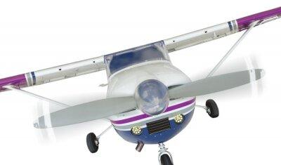 Plakat Przód Cessna 172 Jedynka Propeller Airplane Na Białym