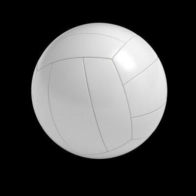 Plakat Puste siatkówka piłka izolowanych z wycinek ścieżki