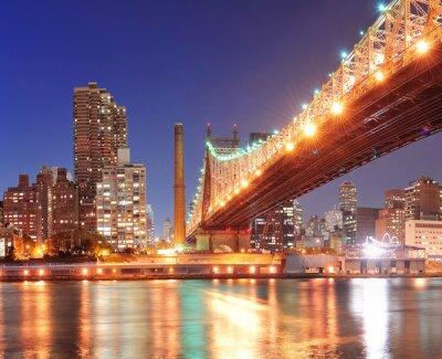 Plakat Queensboro Bridge i Manhattan