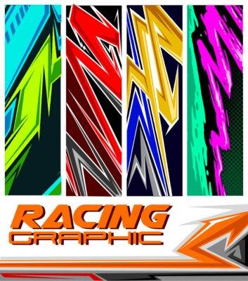 Plakat racing jersey pattern