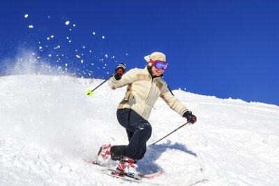 Plakat Radość z jazdy na nartach
