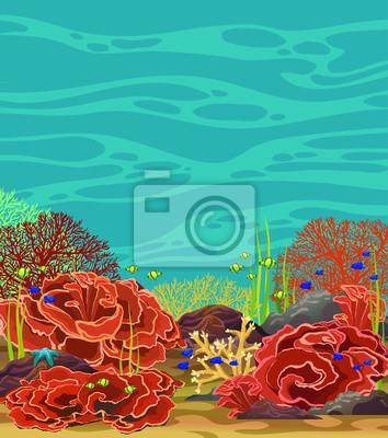Plakat Rafa Koralowa I Ryby Podwodny Krajobraz